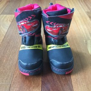 Disney Cars Winter Boots 9/10 toddler